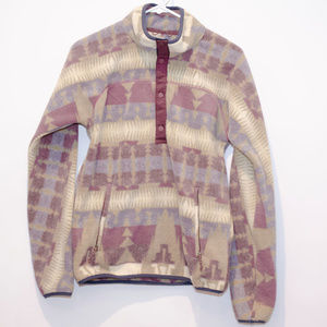 Burton Half Button Patterned Anorak Fleece